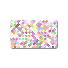 Mosaic Colorful Pattern Geometric Magnet (name Card)