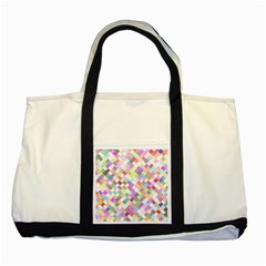 Mosaic Colorful Pattern Geometric Two Tone Tote Bag