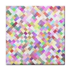 Mosaic Colorful Pattern Geometric Face Towel