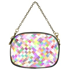 Mosaic Colorful Pattern Geometric Chain Purse (one Side)