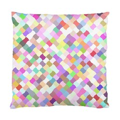 Mosaic Colorful Pattern Geometric Standard Cushion Case (two Sides)