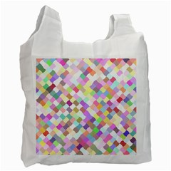Mosaic Colorful Pattern Geometric Recycle Bag (one Side)