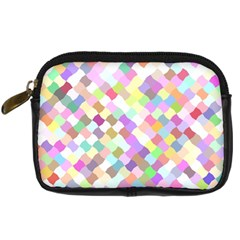 Mosaic Colorful Pattern Geometric Digital Camera Leather Case