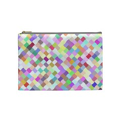 Mosaic Colorful Pattern Geometric Cosmetic Bag (medium)