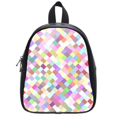 Mosaic Colorful Pattern Geometric School Bag (small)