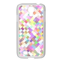 Mosaic Colorful Pattern Geometric Samsung Galaxy S4 I9500/ I9505 Case (white)
