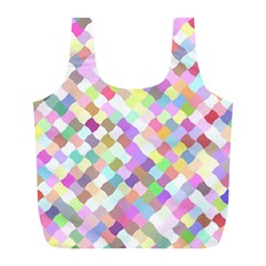 Mosaic Colorful Pattern Geometric Full Print Recycle Bag (l)
