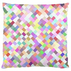 Mosaic Colorful Pattern Geometric Standard Flano Cushion Case (one Side)