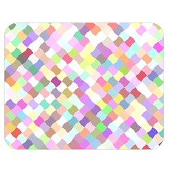 Mosaic Colorful Pattern Geometric Double Sided Flano Blanket (medium)