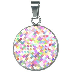 Mosaic Colorful Pattern Geometric 20mm Round Necklace