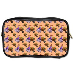 Flowers Girl Barrow Wheel Barrow Toiletries Bag (two Sides)
