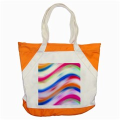 Vivid Colorful Wavy Abstract Print Accent Tote Bag by dflcprintsclothing
