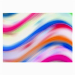 Vivid Colorful Wavy Abstract Print Large Glasses Cloth (2 Side)