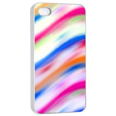 Vivid Colorful Wavy Abstract Print Iphone 4/4s Seamless Case (white) by dflcprintsclothing