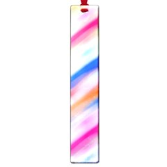 Vivid Colorful Wavy Abstract Print Large Book Marks by dflcprintsclothing