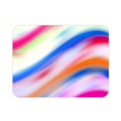 Vivid Colorful Wavy Abstract Print Double Sided Flano Blanket (mini)