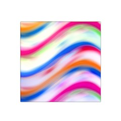 Vivid Colorful Wavy Abstract Print Satin Bandana Scarf
