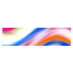 Vivid Colorful Wavy Abstract Print Satin Scarf (oblong)