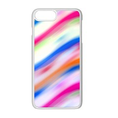 Vivid Colorful Wavy Abstract Print Iphone 8 Plus Seamless Case (white)