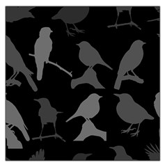 Bird Watching   Dark Grayscale   Large Satin Scarf (square)