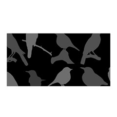 Bird Watching   Dark Grayscale   Satin Wrap