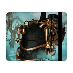 Spirit Of Steampunk, Awesome Train In The Sky Samsung Galaxy Tab Pro 8 4  Flip Case