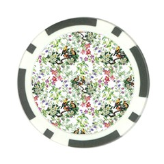Nature Flora Pattern Poker Chip Card Guard (10 Pack)