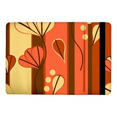 Amber Yellow Stripes Leaves Floral Samsung Galaxy Tab Pro 10 1  Flip Case