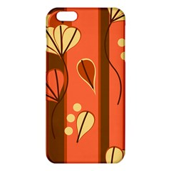 Amber Yellow Stripes Leaves Floral Iphone 6 Plus/6s Plus Tpu Case