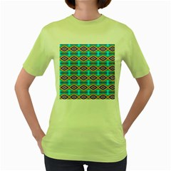 Abstract Colorful Unique Women s Green T Shirt
