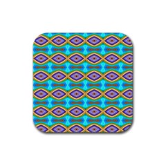 Abstract Colorful Unique Rubber Coaster (square)  by Alisyart