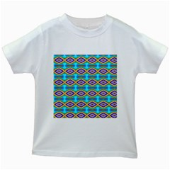 Abstract Colorful Unique Kids White T Shirts