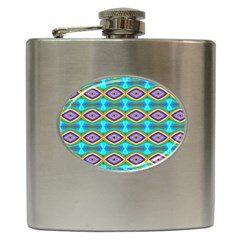 Abstract Colorful Unique Hip Flask (6 Oz)