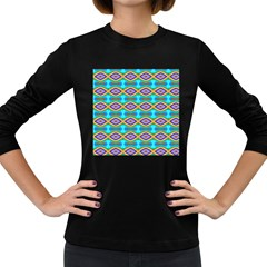 Abstract Colorful Unique Women s Long Sleeve Dark T Shirt