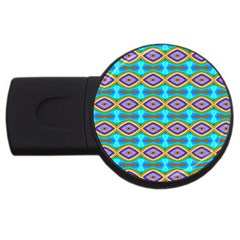 Abstract Colorful Unique Usb Flash Drive Round (4 Gb) by Alisyart
