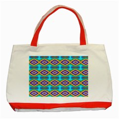 Abstract Colorful Unique Classic Tote Bag (red) by Alisyart