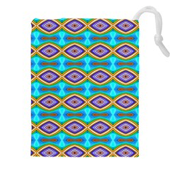 Abstract Colorful Unique Drawstring Pouch (xxl) by Alisyart