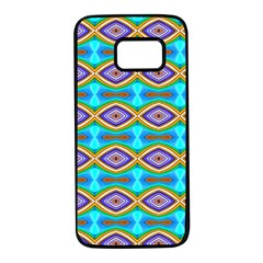 Abstract Colorful Unique Samsung Galaxy S7 Black Seamless Case