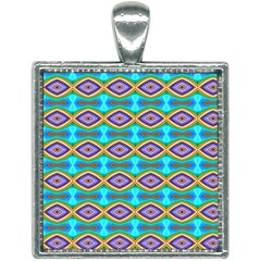 Abstract Colorful Unique Square Necklace