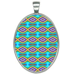 Abstract Colorful Unique Oval Necklace