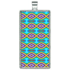 Abstract Colorful Unique Rectangle Necklace by Alisyart