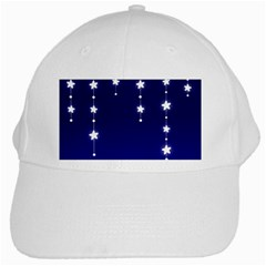 Star Background Blue White Cap by AnjaniArt