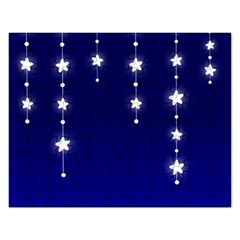 Star Background Blue Rectangular Jigsaw Puzzl by AnjaniArt