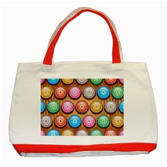 Background Colorful Abstract Brown Classic Tote Bag (red)