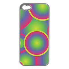 Background Colourful Circles Iphone 5 Case (silver)