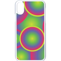 Background Colourful Circles Iphone X Seamless Case (white)
