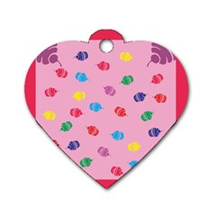 Cupcakes Food Dessert Celebration Dog Tag Heart (one Side)