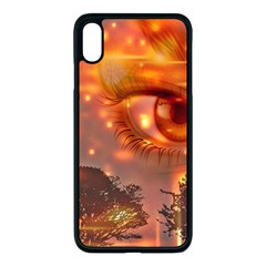 Eye Butterfly Evening Sky Iphone Xs Max Seamless Case (black)