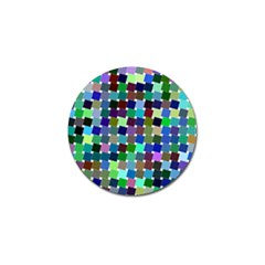 Geometric Background Colorful Golf Ball Marker (4 Pack)