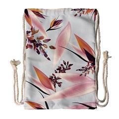 Memo Foral Drawstring Bag (large) by tangdynasty